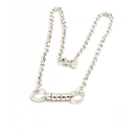 Exclusive Sterling Silver Classic Cherry Roller Snaffle Necklace