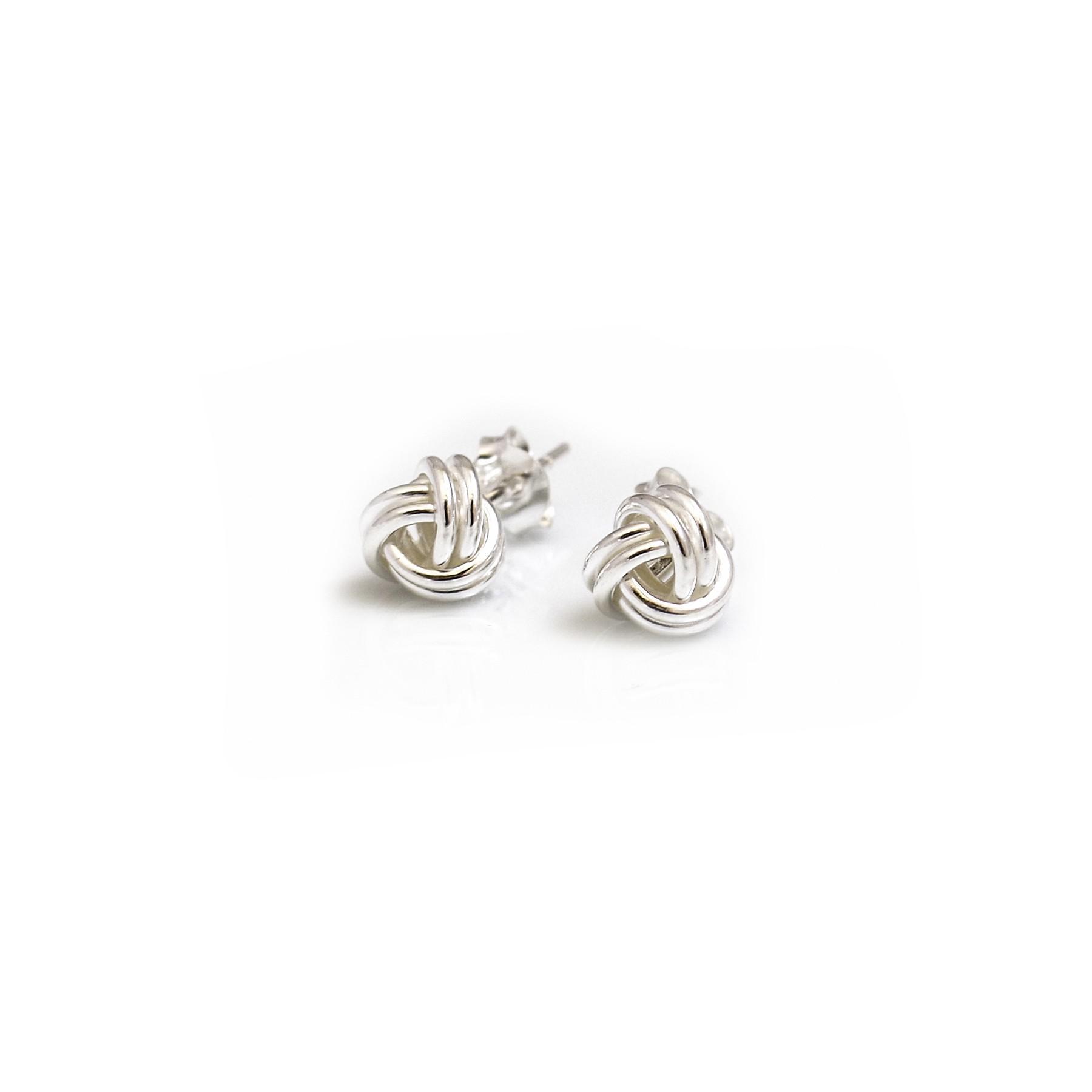 960d8d5eb Sterling Silver Knot Stud Earrings. Loading zoom