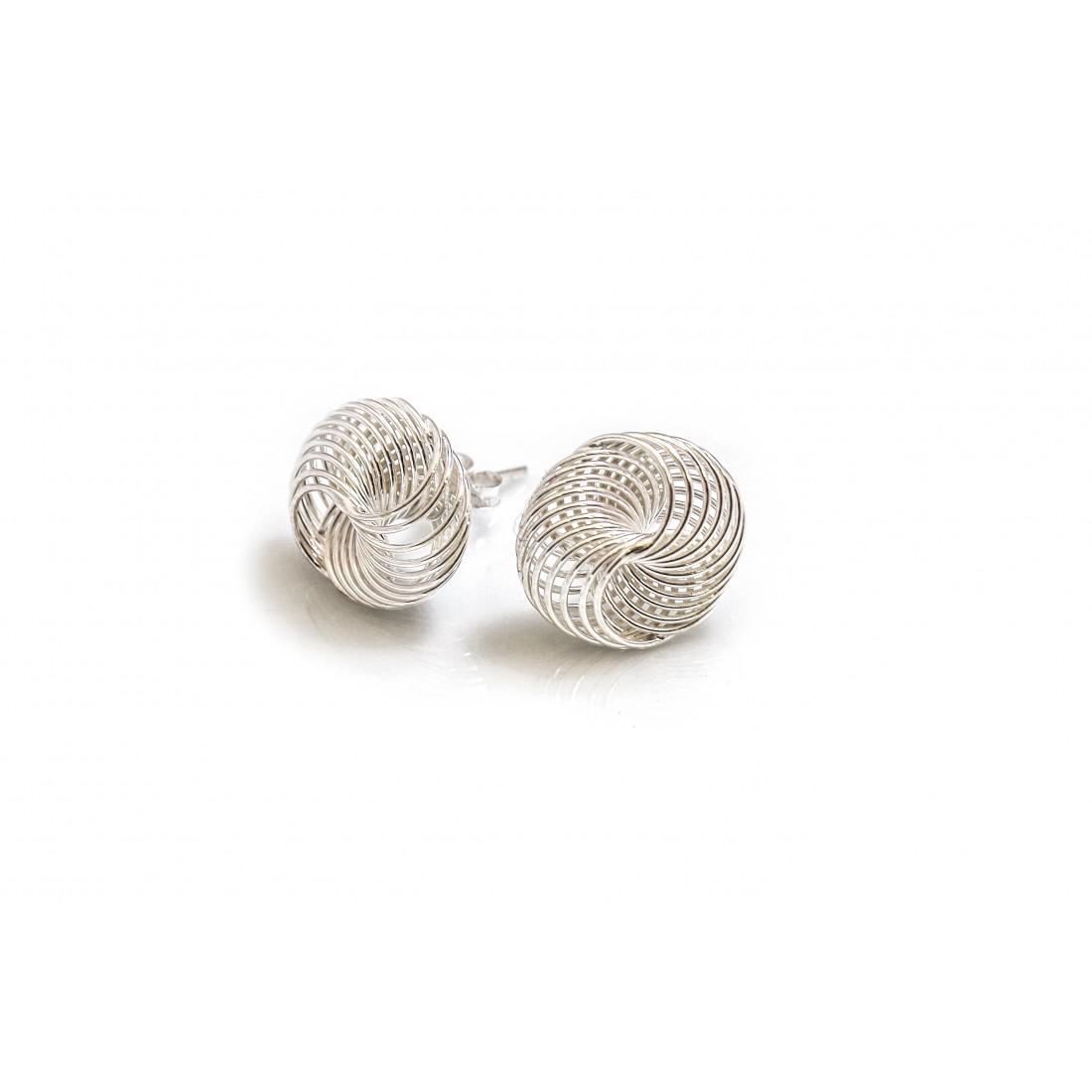 Sterling Silver Coiled Stud Earrings