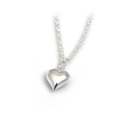Sterling Silver Heart Pendant With Trace Chain