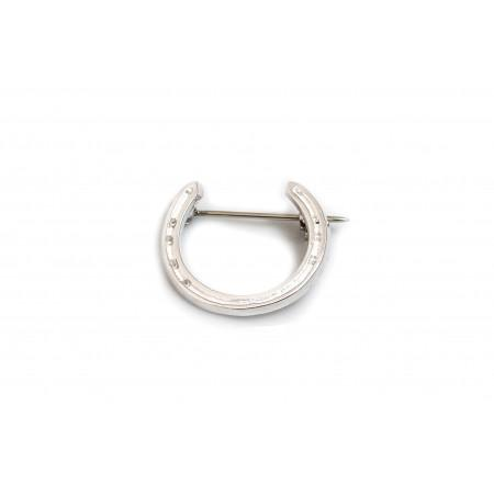 Sterling Silver Horseshoe Brooch