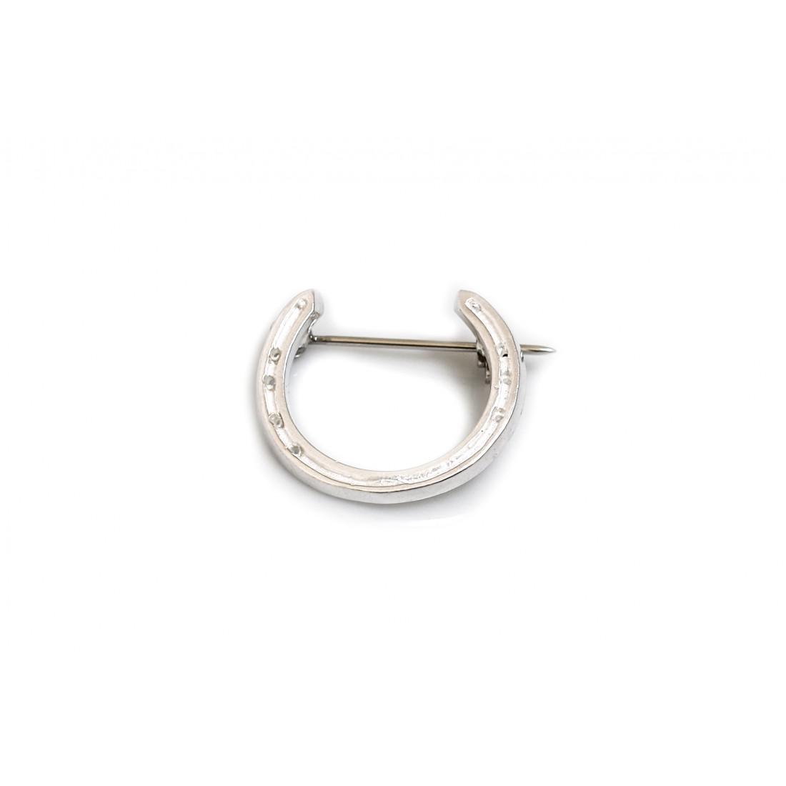 Sterling Silver Horseshoe Brooch
