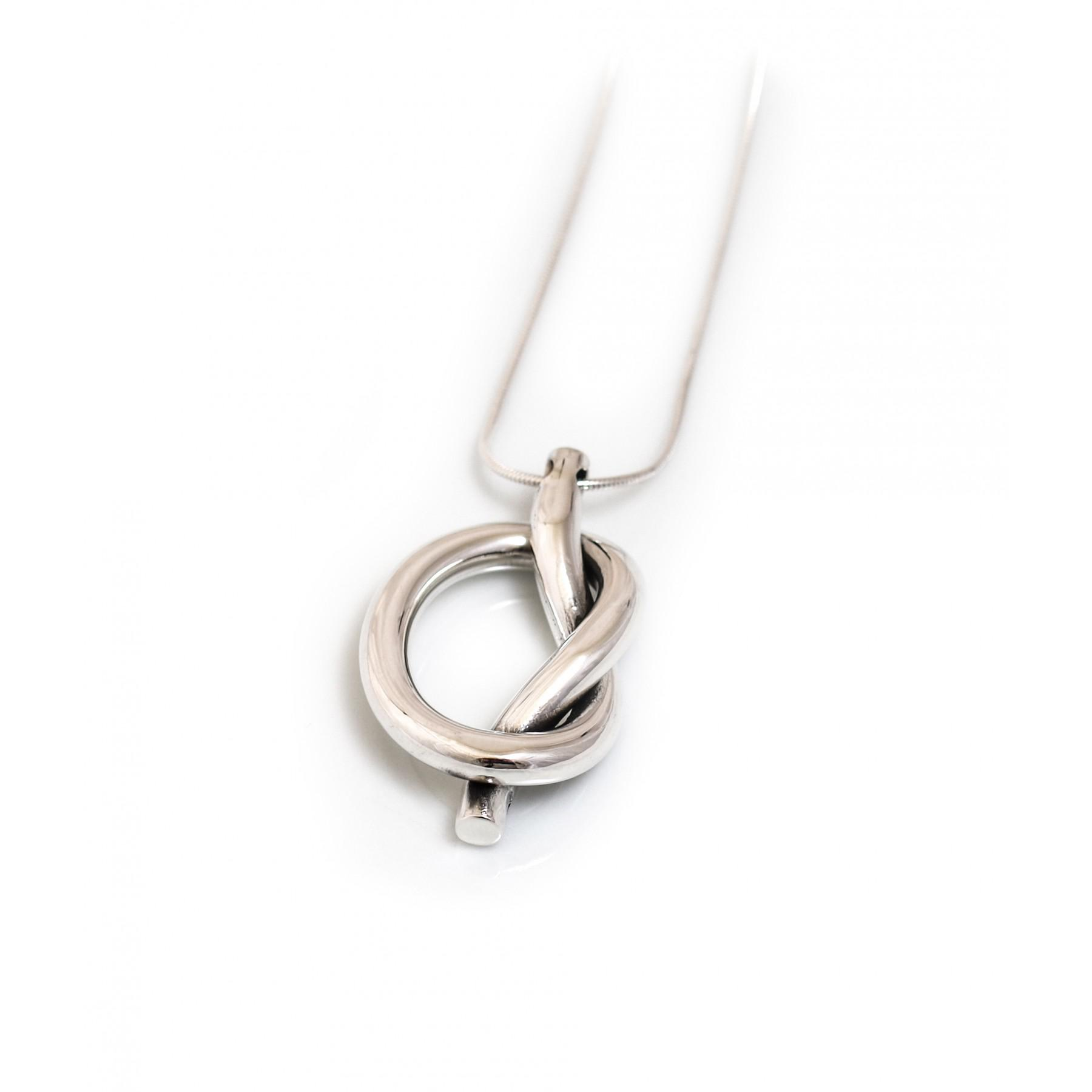 open necklace plated zoom sale sterling knot silver simply rose pendant gold