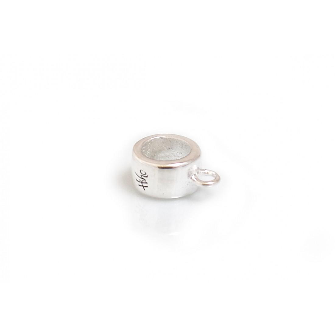 Sterling Silver Charm Carrier Roller Bead