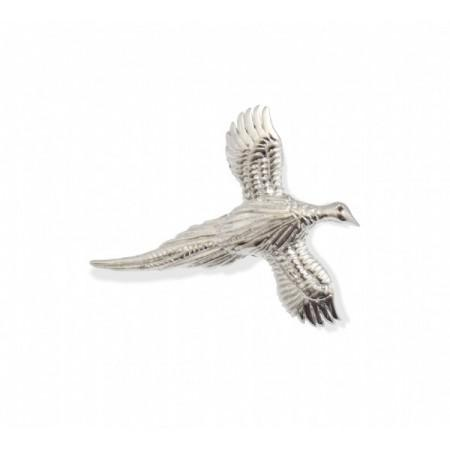 Exclusive Sterling Silver & Garnet Pheasant Brooch - Equestrian Jewellery