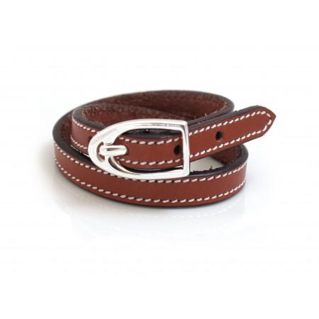 Russet Brown Double Wrap Leather Strap