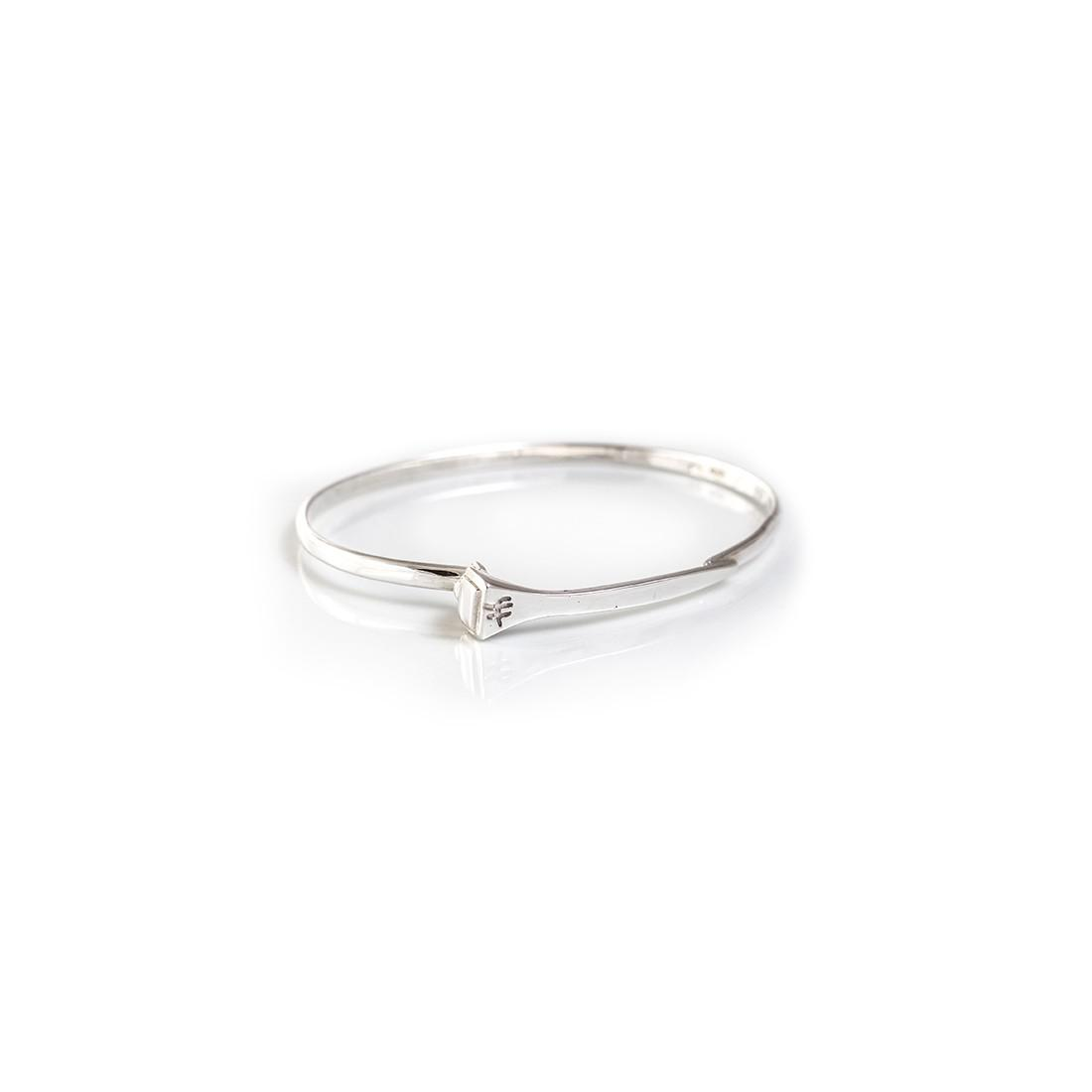 Sterling Silver Farrier Nail Bangle