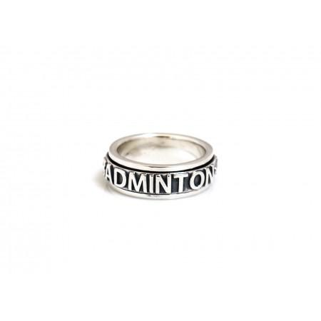 Limited Edition Exclusive Sterling Silver Badminton Spinner Ring
