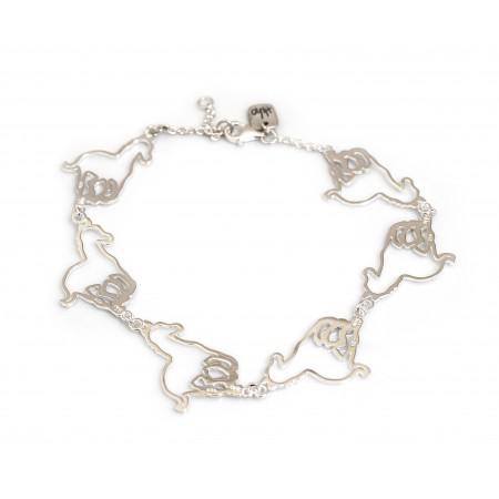 Exclusive Sterling Silver Galloping Horse Bracelet