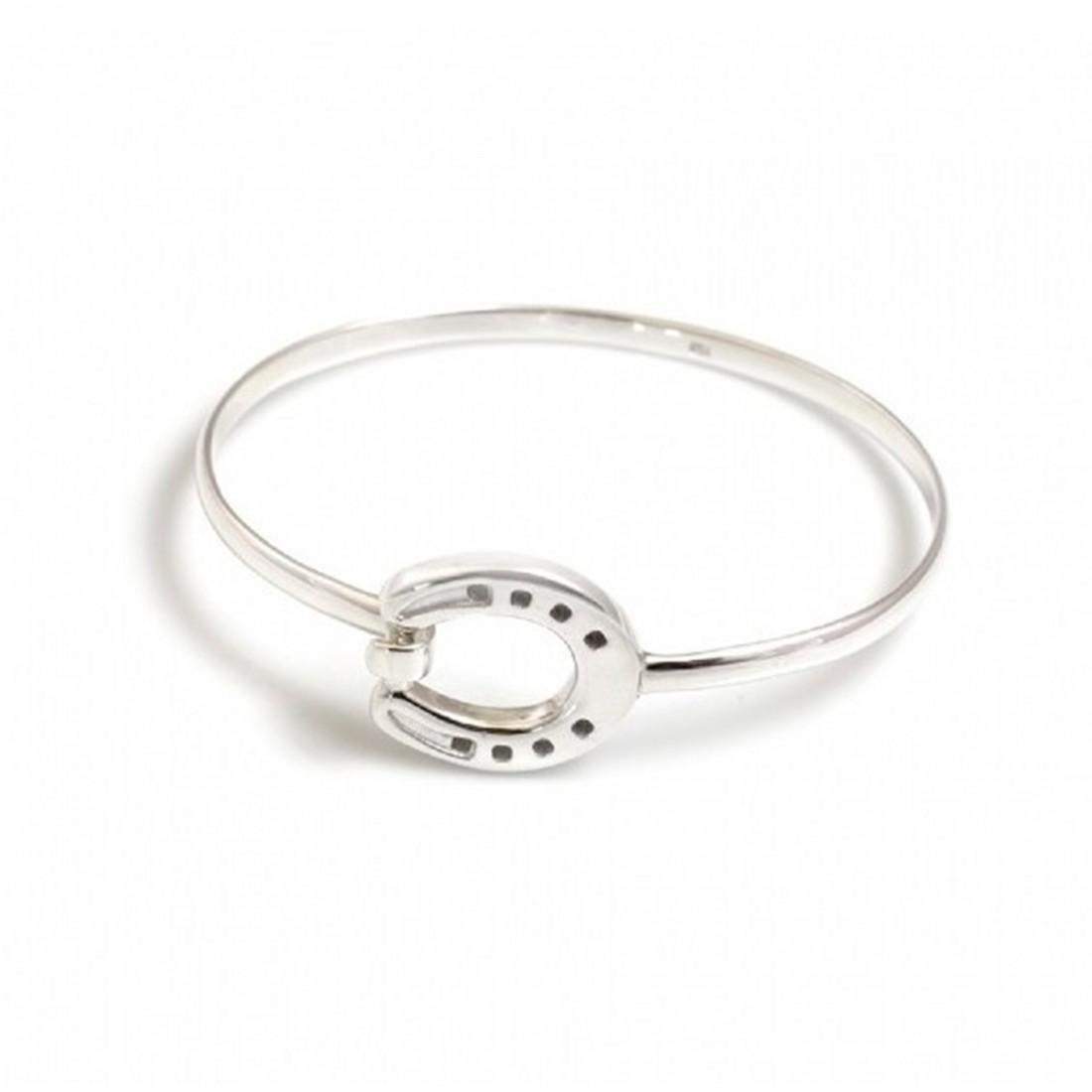 Sterling Silver Horseshoe Bangle