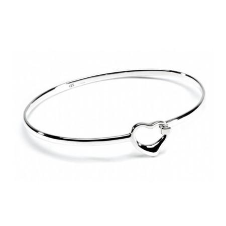 Sterling Silver Heart Clip Bracelet
