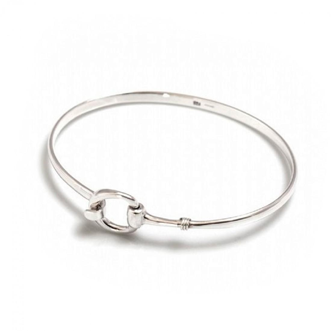 Exclusive Sterling Silver Snaffle Clip Bracelet