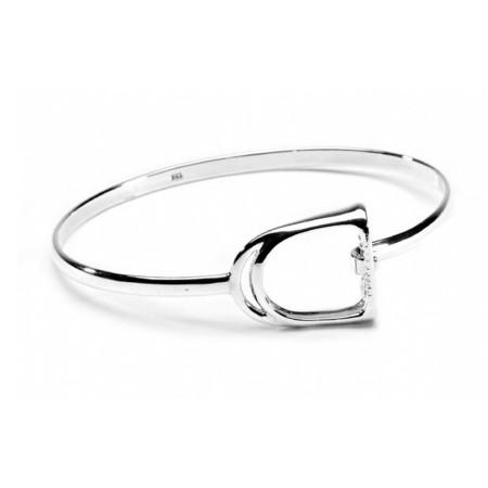 Sterling Silver Exclusive Stirrup Bracelet