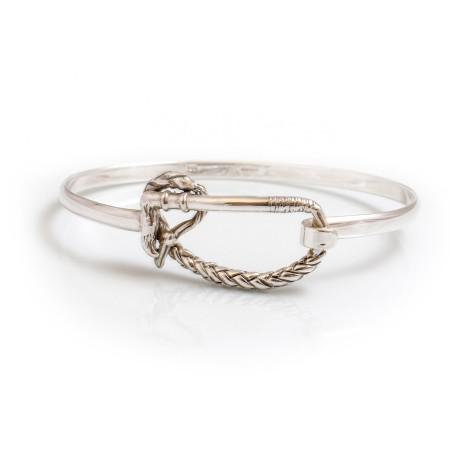 Exclusive Sterling Silver Riding Whip Bangle