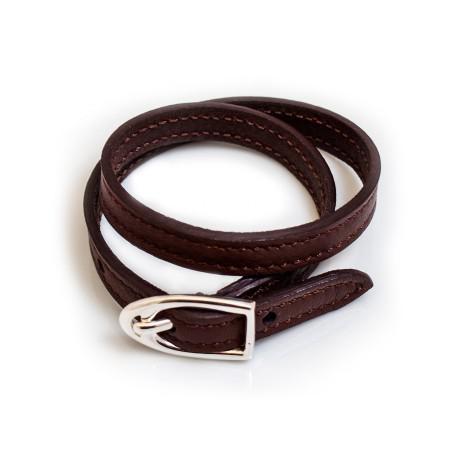 Dark Brown Double Wrap Leather Bracelet