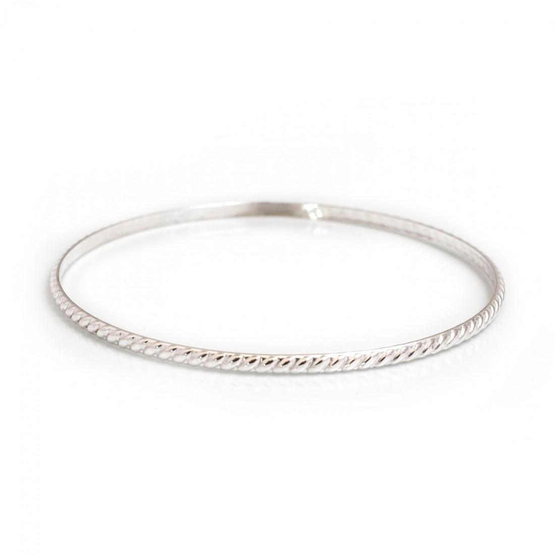 Sterling Silver Patterned Bangle