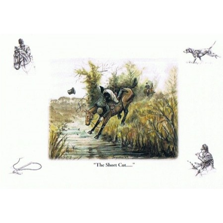 ''The Short Cut...'' - Fergusson Sporting Art Greeting Card - Country Greeting Card