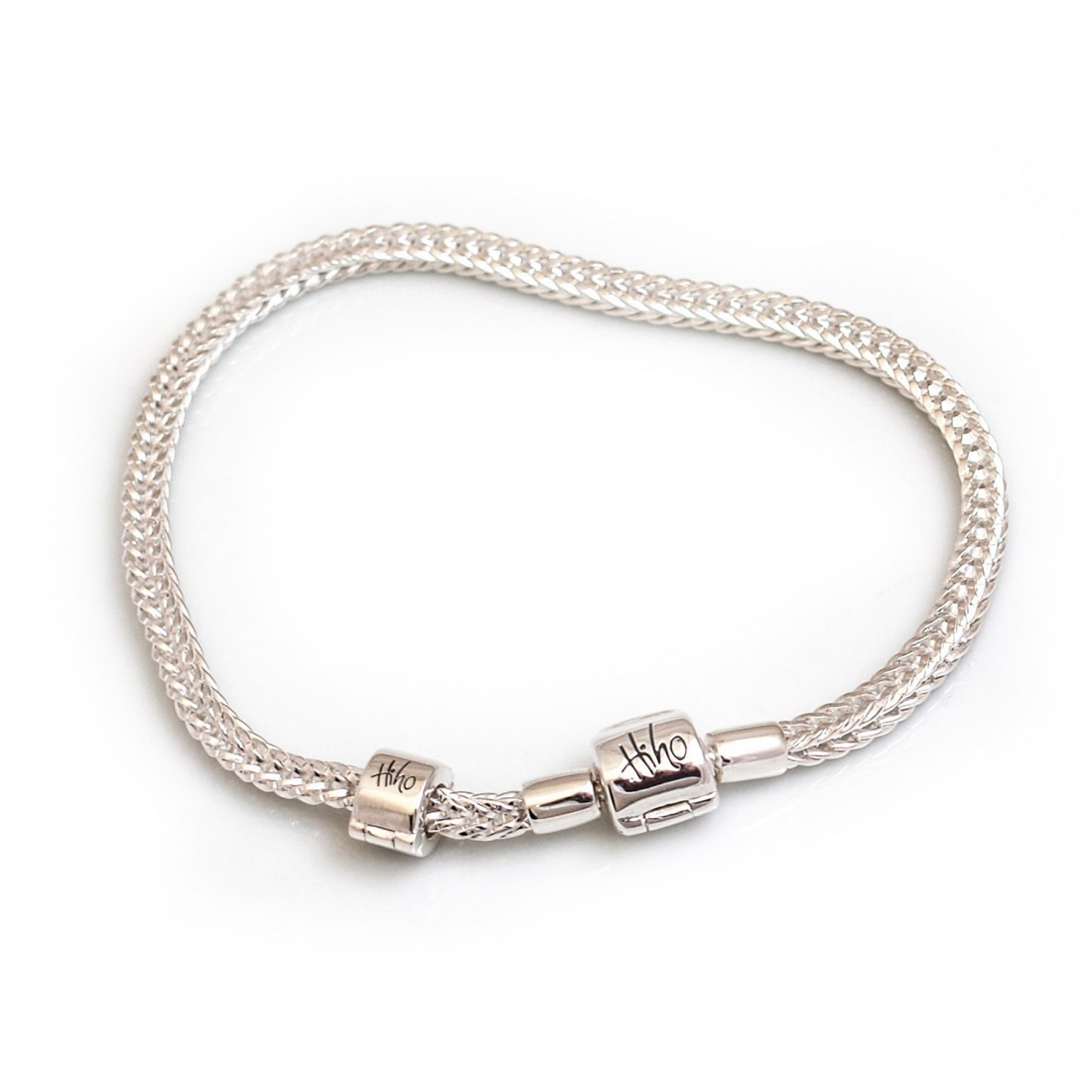 Exclusive Sterling Silver Foxtail Charm Bead Bracelet
