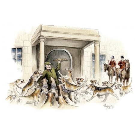 ''Hunt Etiquette: Always Remember To Greet Your Host'' - Fergusson Sporting Art Greeting Card