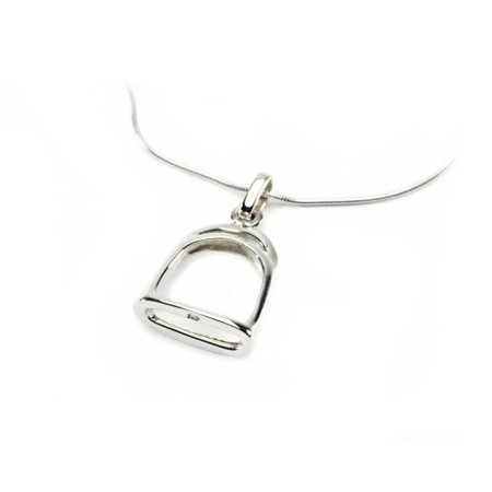 Exclusive Sterling Silver Stirrup Pendant