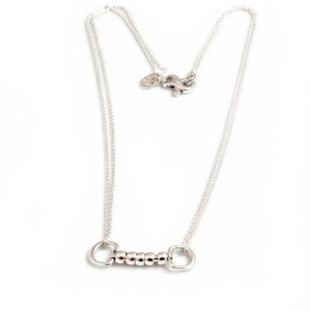 Exclusive Sterling Silver Cherry Roller Snaffle Necklace