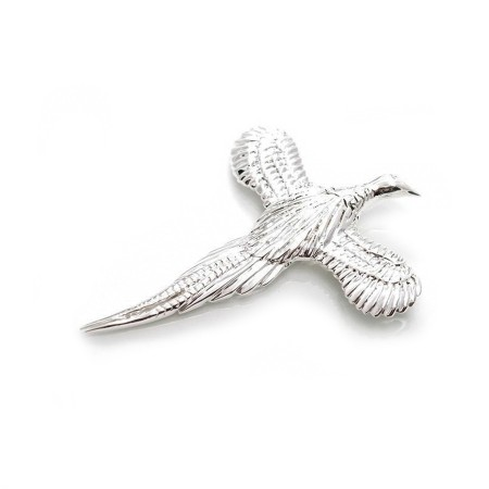 Exclusive Sterling Silver Pheasant Brooch