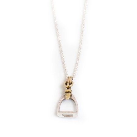 Sterling Silver & Two Tone Stirrup Pendant