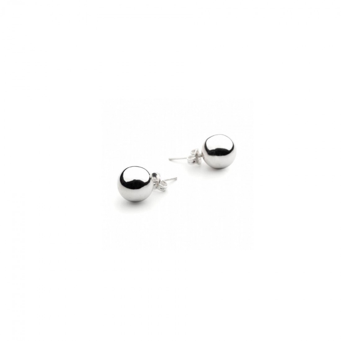 10mm Sterling Silver Ball Stud Earrings