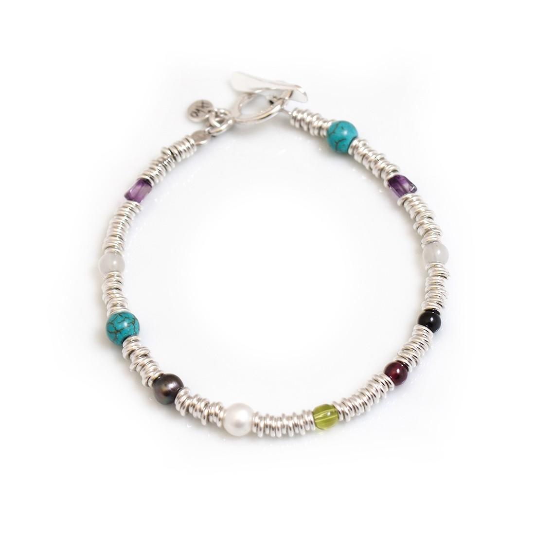 Multi Link & Multi Stone Bracelet