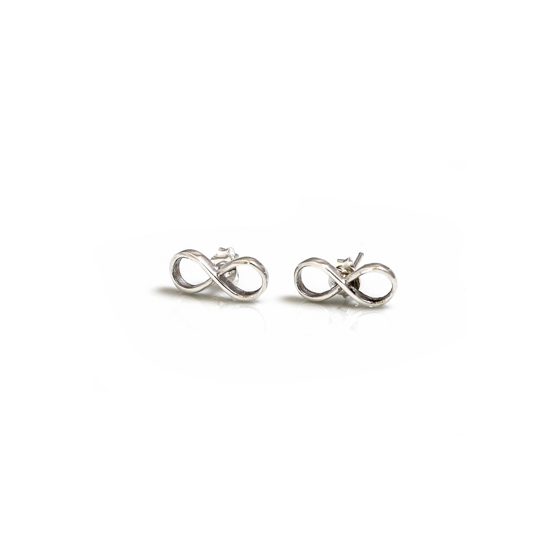silver stud tiny p infinity earrings color choose sterling products small post