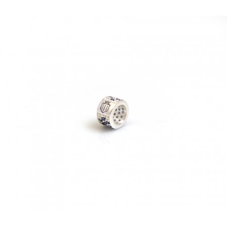Exclusive Sterling Silver & Tanzanite CZ Fairfax & Favor Roller Charm