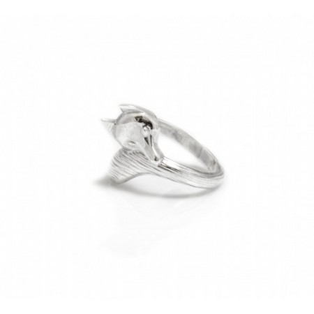 Exclusive Sterling Silver Fox Ring