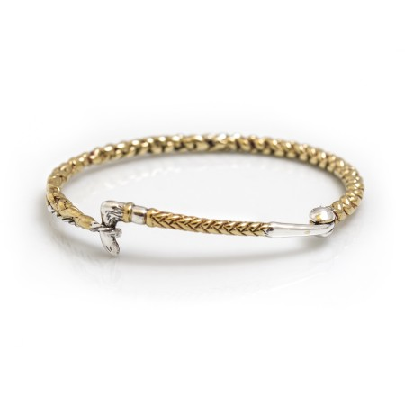 Exclusive Sterling Silver & 18ct Gold Plate whip Bracelet