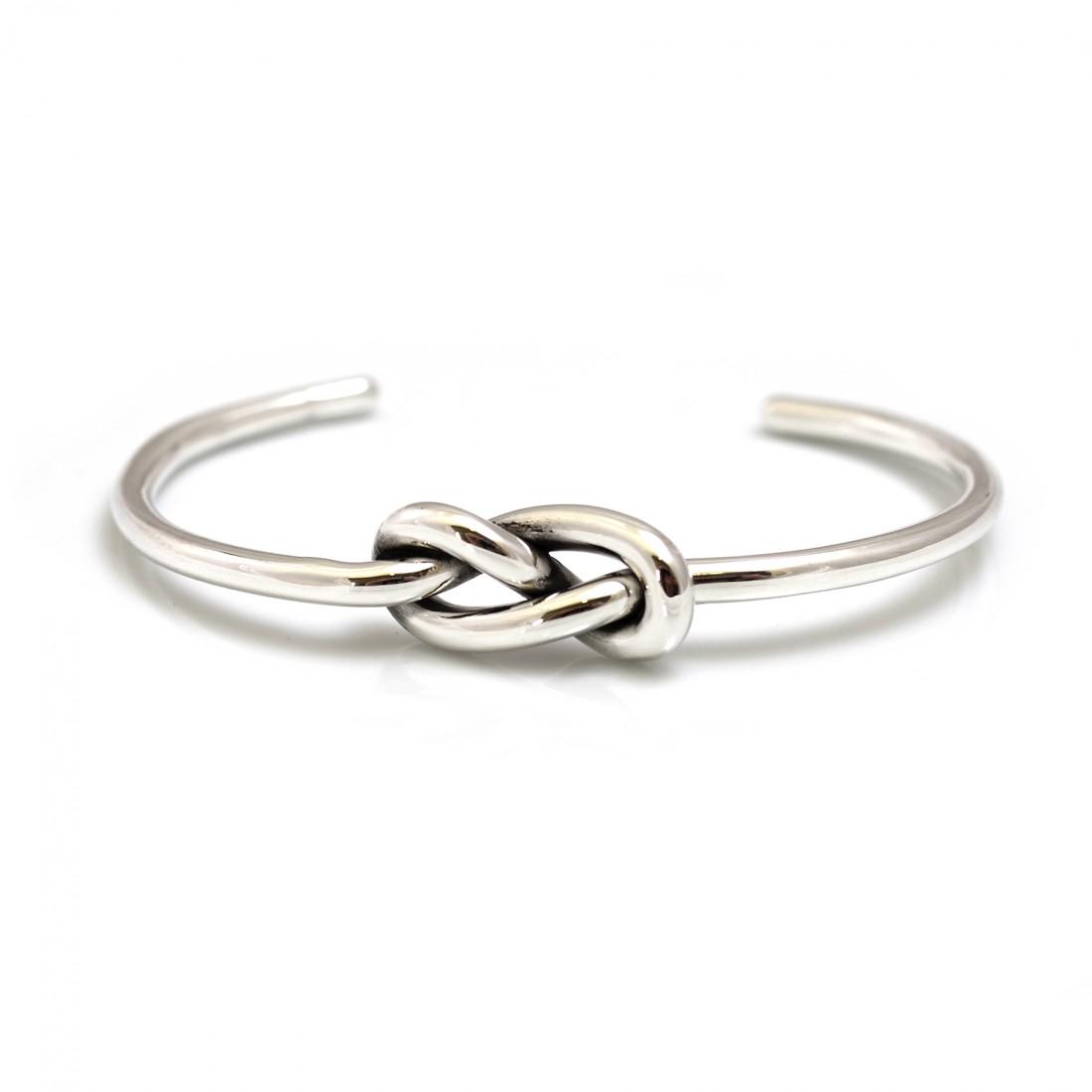 Sterling Silver Double Knot Cuff Bracelet