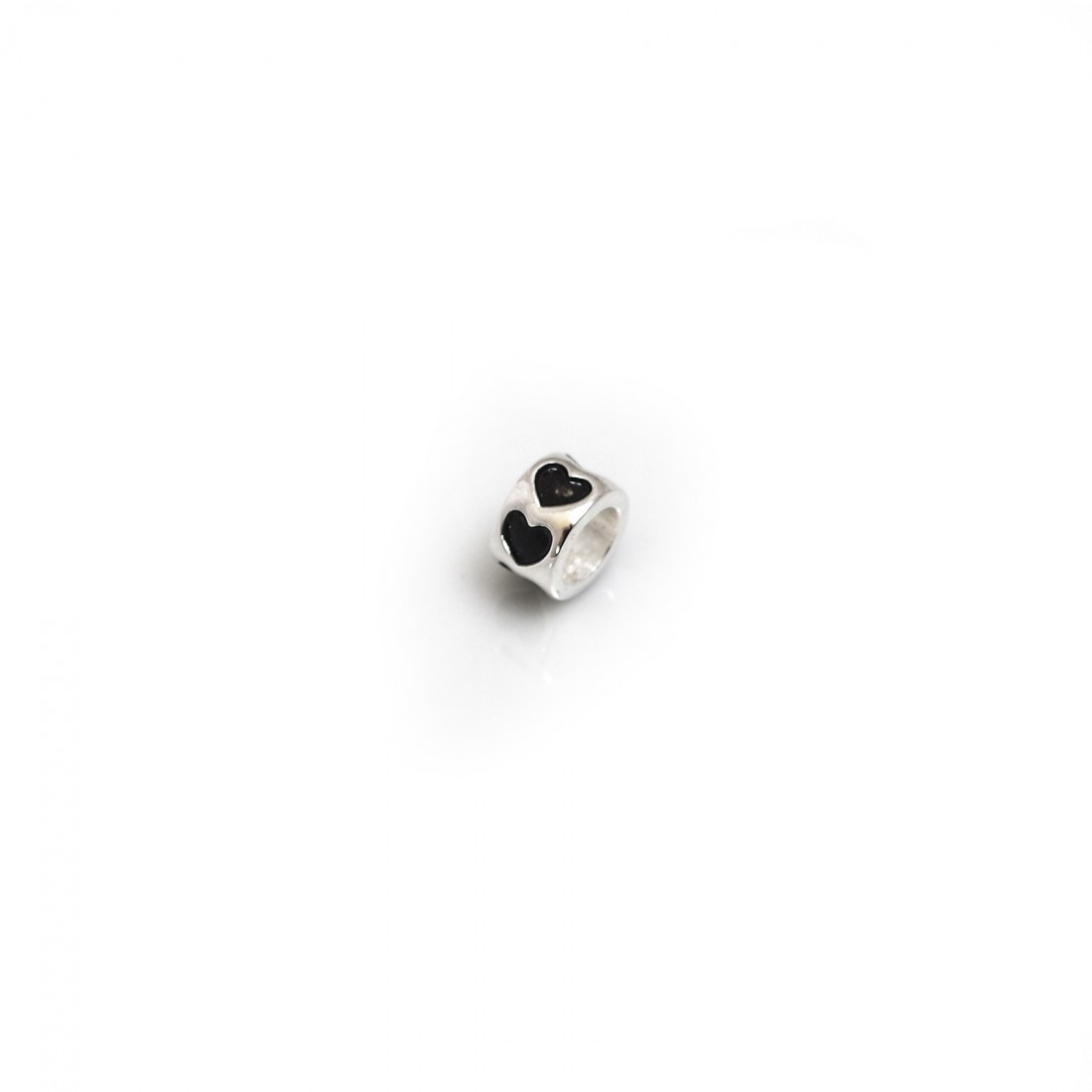 Exclusive Sterling Silver Love Hearts Roller Bead