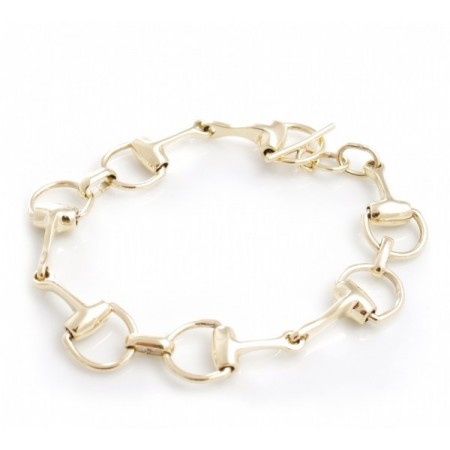 9ct Gold Snaffle Bracelet