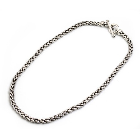 Sterling Silver Oxidised Wheatsheaf Necklace