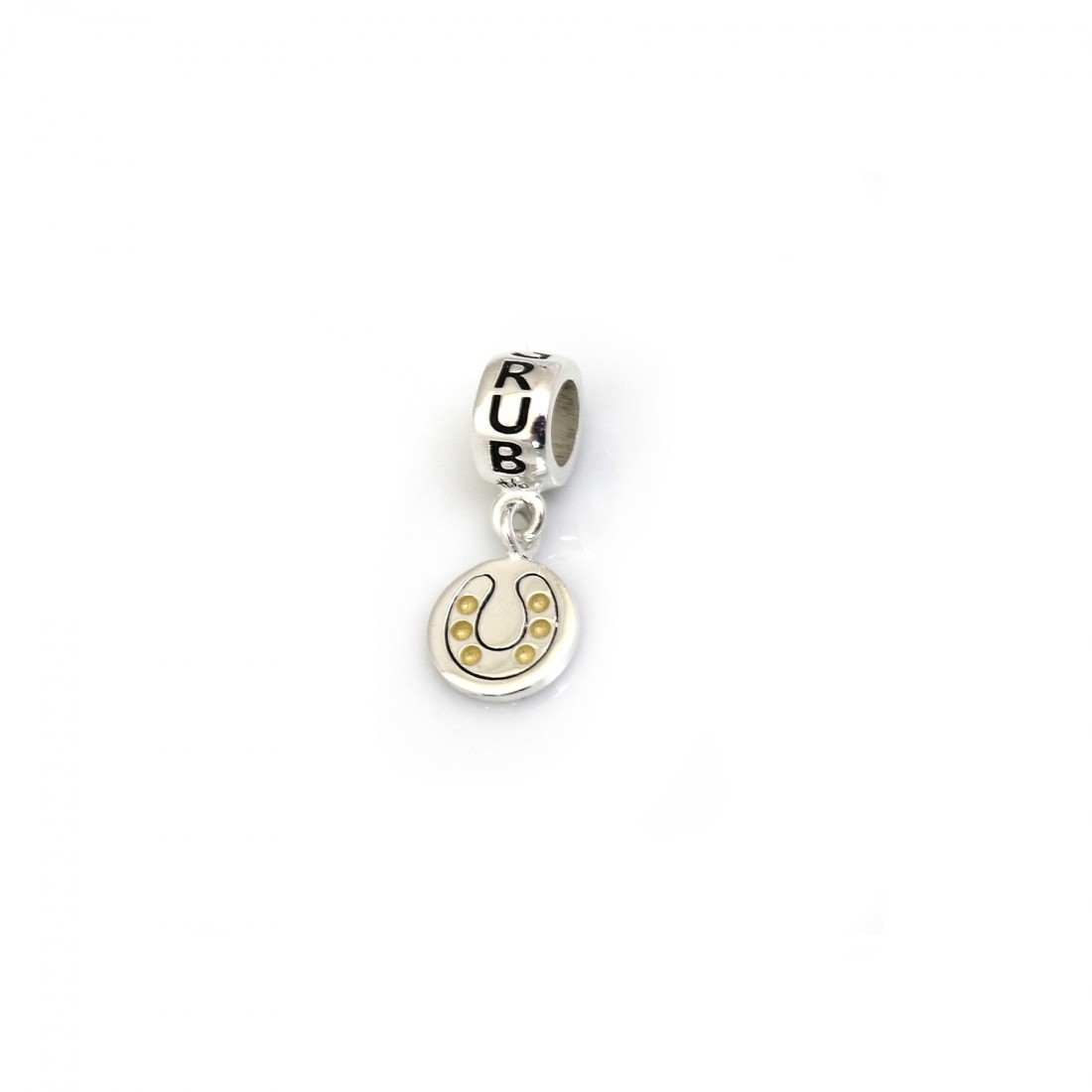 Exclusive Sterling Silver & 18ct Gold Plated Burghley Horse Trials Roller Charm