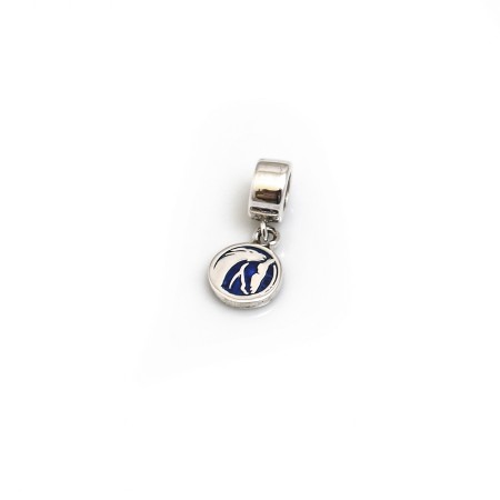 New Exclusive Sterling Silver & CZ World Horse Welfare Roller Charm Bead