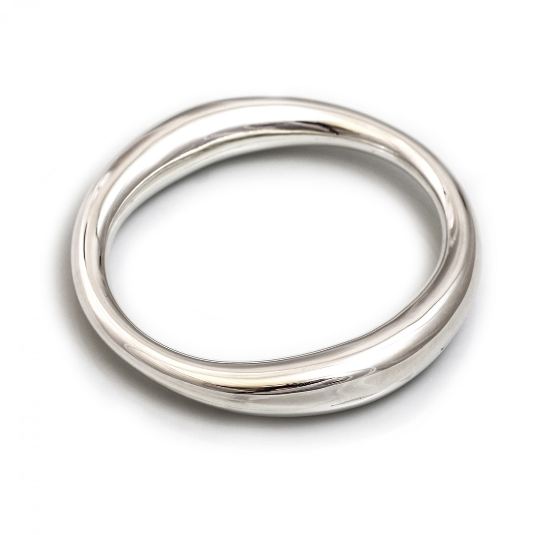 Sterling Silver Chunky Bangle