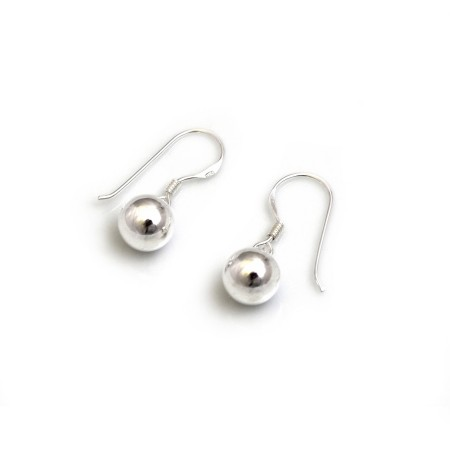 Sterling Silver Dangly Bead Earrings