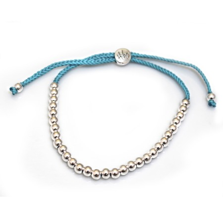 Sterling Silver Beaded Friendship Bracelet