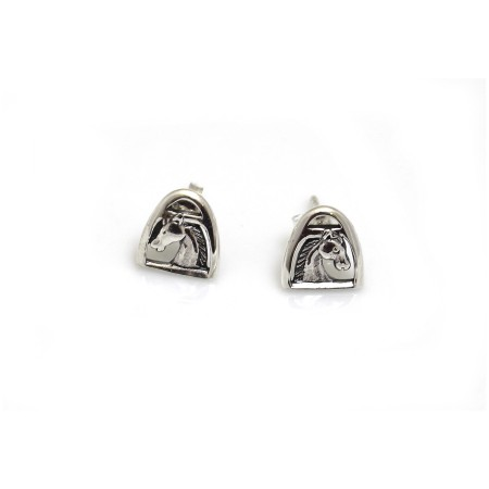 Sterling Silver Stirrup & Horse Studs