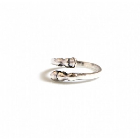 Sterling Silver Horse Hoof Adjustable Ring