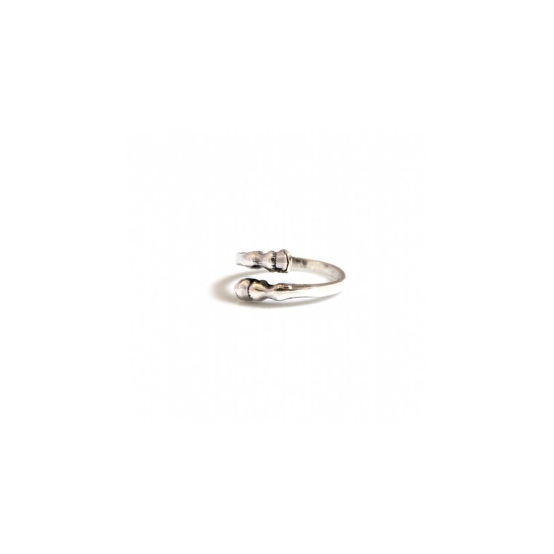 Sterling Silver Horse Hoof Adjustable Ring