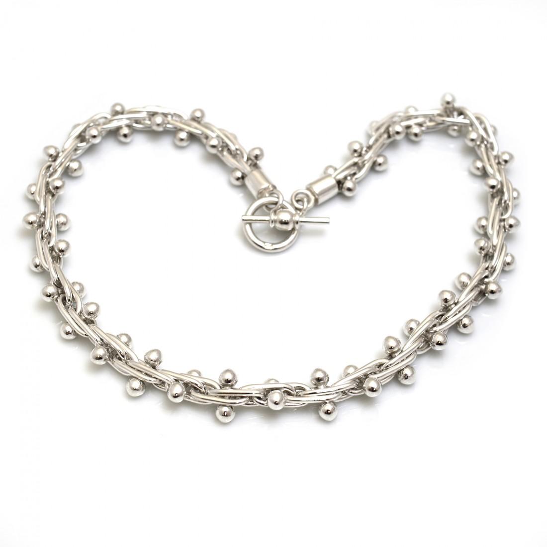 Sterling Silver Bobbly Necklace