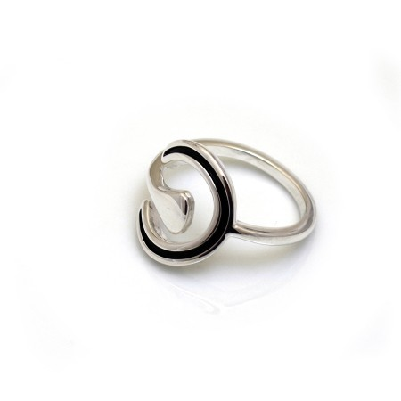 Exclusive Adjustable Sterling Silver Horseshoe Ring