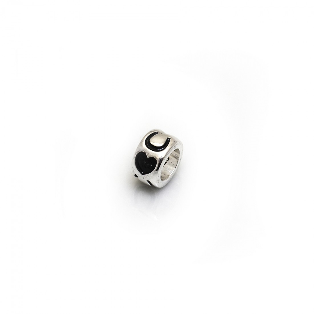 Exclusive Sterling Silver, Hearts & Horseshoes Roller Charm Bead