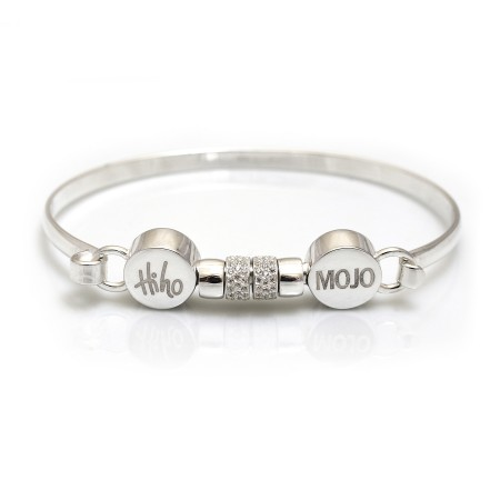 Exclusive Sterling Silver & CZ Mojo Bangle