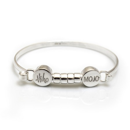 Exclusive Sterling Silver Mojo Bangle